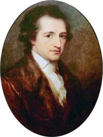 A 1787 portrait of Johann Wolfgang von Goethe by Angelica Kaufmann.
