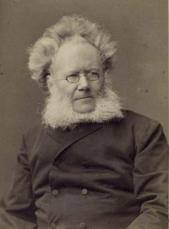 A photographic portrait of Henrik Ibsen.