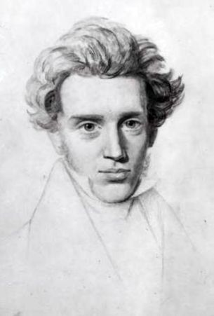 An 1840 unfinished sketch of Søren Kierkegaard by his cousin Niels Christian Kierkegaard.