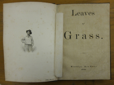The 1855 edition of Leaves of Grass included a photograph of the poet.