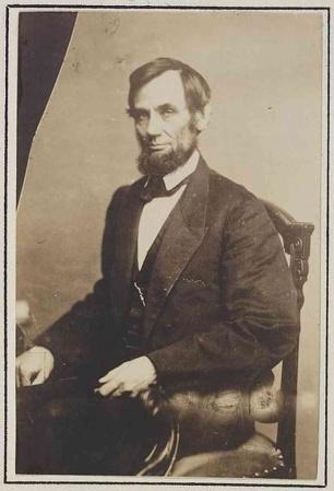 A May 1861 portrait of Abraham Lincoln taken at Matthew Brady's studio in Washington, D.C.