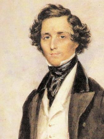 An 1839 portrait of Felix Mendelssohn by James Warren Childe.