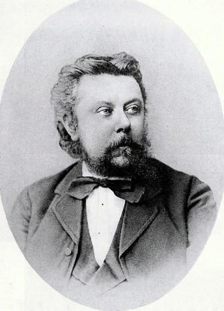 An 1874 photograph of Modest Mussorgsky.
