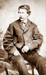 A photograph of Timothy O'Sullivan taken by F.G. Ludlow in Carson City, Nevada between 1871 and 1874.