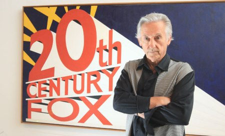 Ed Ruscha with Trademark with Eight Spotlights.