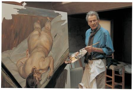 Lucian Freud painting 'Night Portrait, Face Down' (1999-2000).
