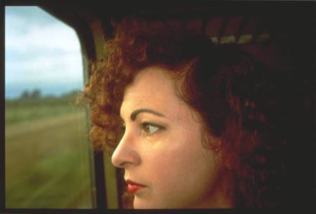 Nan Goldin's 'Self-Portrait on the Train, Germany, 1992.