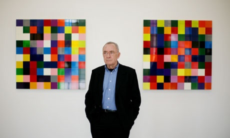Gerhard Richter with 4900 Colors: Version II. Photograph: Graeme Robertson.