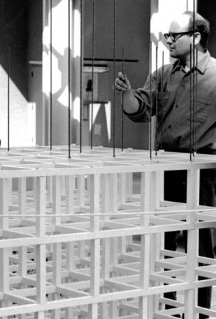 Sol Lewitt creating a Structure.