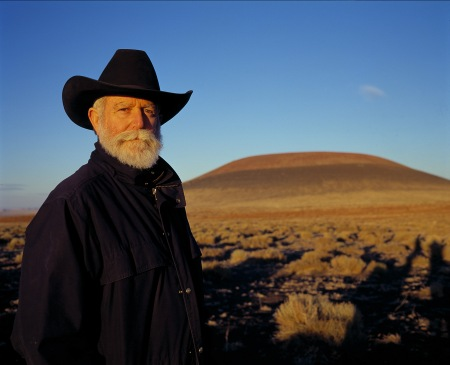 James Turrell at Roden Crater, near Flagstaff, Arizona.