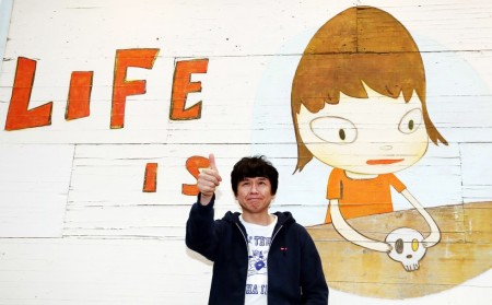 Yoshitomo Nara with 'Life Is Only One' (2011).