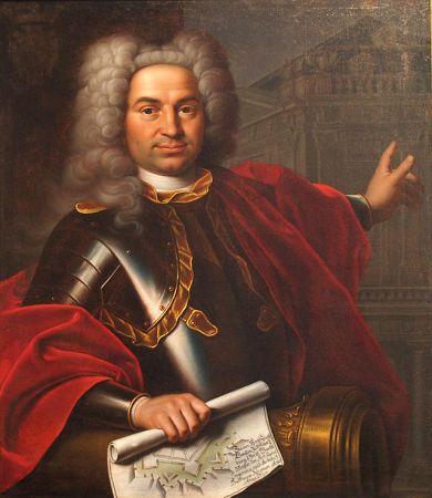 A 1727 portrait of Balthasar Neumann by Markus Friedrich Kleinert.