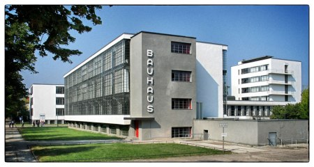 Bauhaus Dessau, by Walter Gropius, in Dessau, Germany.