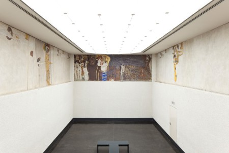 The Beethoven Frieze, by Gustav Klimt, in the Secession Building, Vienna, Austria.