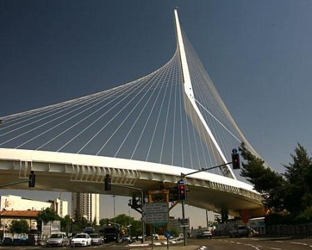 The Bridge of Strings in Jerusalem.