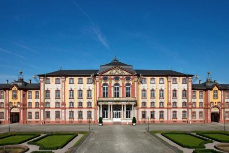 Bruchsal Palace, by Balthasar Neumann, is located in Bruchsal, Germany.