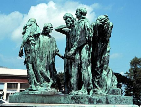 The Burghers of Calais, by Auguste Rodin, in Calais, France.