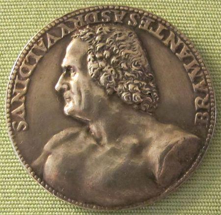A 1506 medallion by Caradosso depicting Donato Bramante.