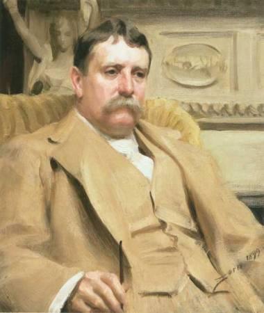 An 1899 portrait of Daniel Hudson Burnham by Anders Zorn.