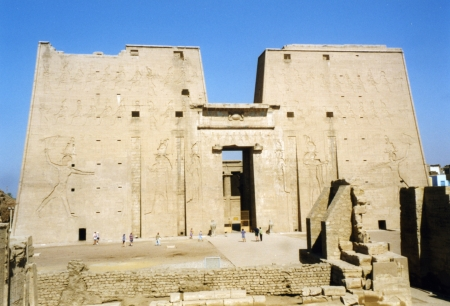 The Temple of Horus at Edfu.