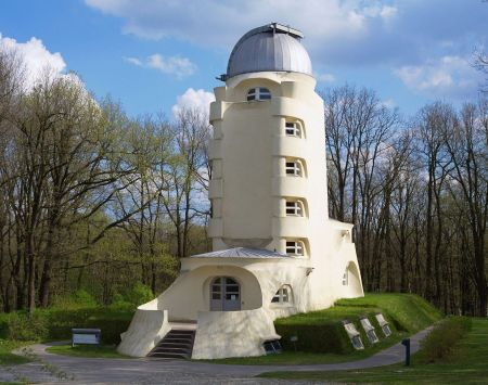 The Einstein Tower, in Potsdam, Germany, was designed by Erich Mendelsohn.