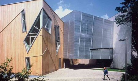 Felix Nussbaum Haus, which was designed by Daniel Libeskind is located in Osnabrück, Germany.
