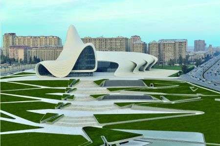 Hejdar Aliyev Center in Baku, Azerbaijan.