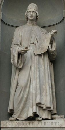 A statue of Leon Battista Alberti in Florence.