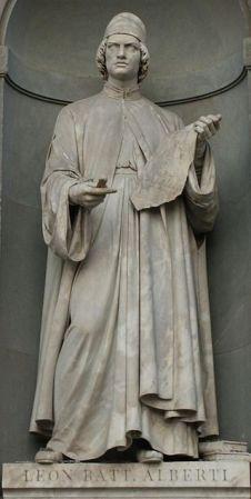 A statue of Leon Battista Alberti in Florence.