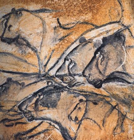 Lions, Chauvet Cave.