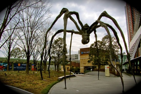 Maman by Louise Bourgeois at the Mori Art Museum in Tokyo, Japan.