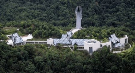 A view of the Miho Museum in Japan.