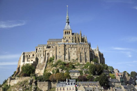 The abbey at Mont St. Michel, France.