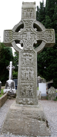 The west face of Muiredach's High Cross in Monstarboice, County Louth, Ireland.