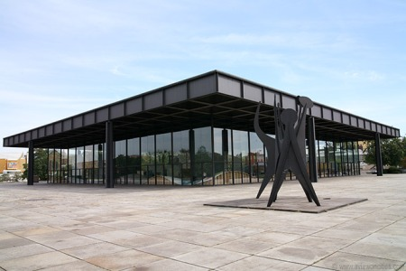 The Neue Nationalgalerie, by Ludwig Mies van der Rohe, in Berlin, Germany.