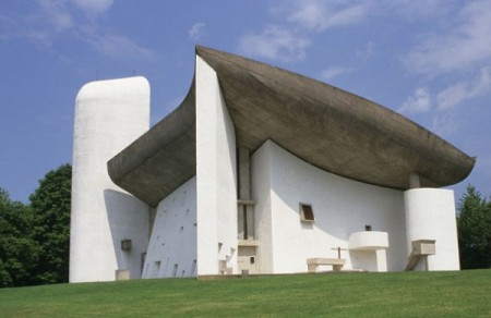 Notre Dame du Haut, by Le Corbusier, in Ronchamp, France.