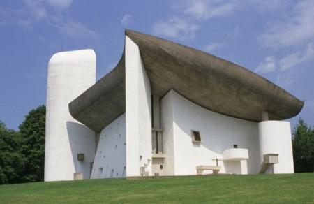 Notre Dame du Haut, by Le Corbusier, in Ronchamp, France.