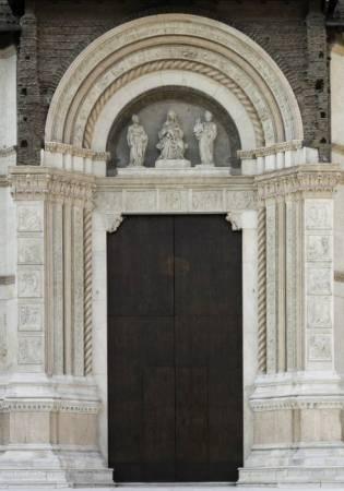 The Porta Magna of San Petronio Church in Bologna, Italy were created by Jacopo della Quercia.