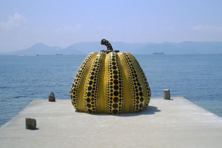 Pumpkin, by Yayoi Yusama.