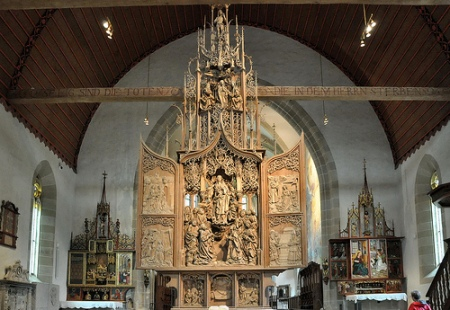 The Herrgottskirche Altarpiece, by Tilman Riemenschneider, in Creglinge, Germany.