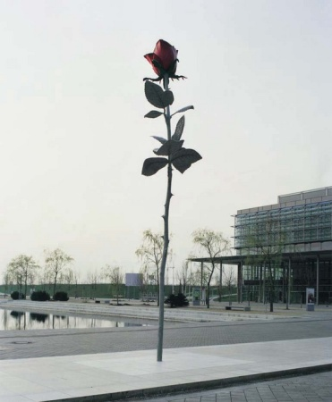 Rose, by Isa Genzken, in Leipzig, Germany.