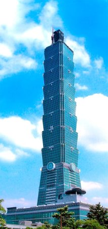 Taipei 101 in Taipei, Taiwan.