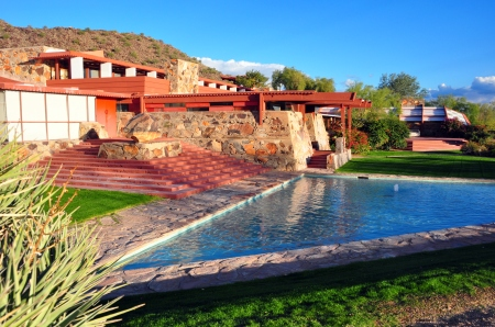 Taliesin West in Scottsdale, Arizona, shown in a 2010 photo.