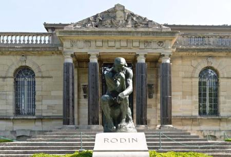 The Thinker, by Auguste Rodin, at Rodin's grave in Meudon, France.