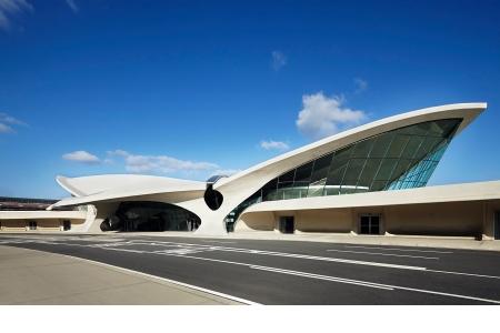 The TWA Terminal, by Eero Saarinen, at John F. Kennedy International Airport in New York City.
