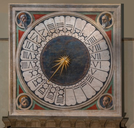 The face of the clock in Florence Cathedral, in Florence, Italy, was painted by Paolo Uccello.