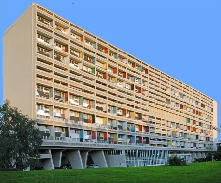 Unité d'Habitation, by Le Corbusier, in Marseilles, France.
