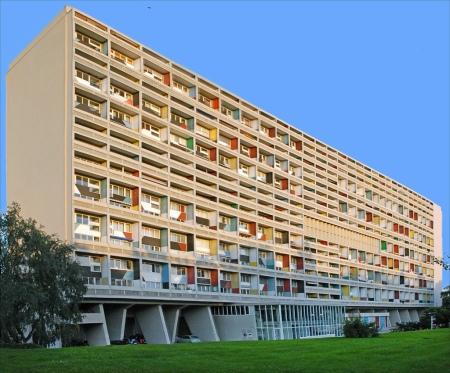 Unité d'Habitation, by Le Corbusier, in Marseilles, France.