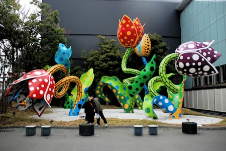 The Visionary Flowers, by Yayoi Kusama.