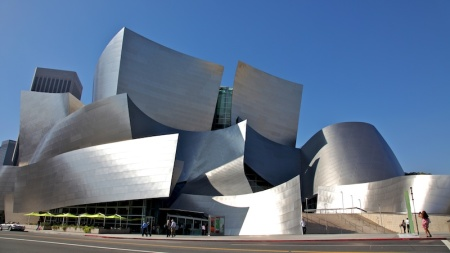 Walt Disney Concert Hall in Los Angeles, California.